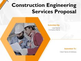 Construction Engineering Services Proposal Powerpoint Presentation Slides