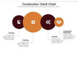 Construction Gantt Chart Ppt Powerpoint Presentation Pictures Infographic Template Cpb