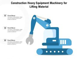 Construction Heavy Equipment Machinery For Lifting Material