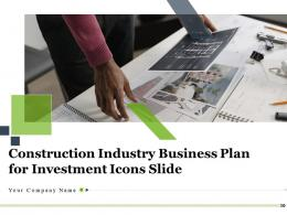 Construction Industry Business Plan For Investment Icons Slide Complete Deck