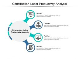 Construction Labor Productivity Analysis Ppt Powerpoint Presentation Portfolio Clipart Cpb