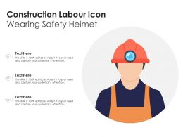 Construction Labour Icon Wearing Safety Helmet