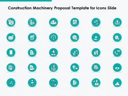 Construction Machinery Proposal Template For Icons Slide Ppt Powerpoint Presentation Styles Maker