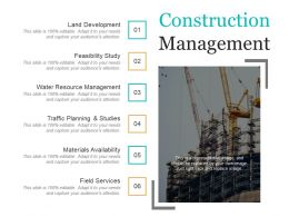 Construction Management Presentation Slides