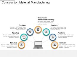 Construction Material Manufacturing Ppt Powerpoint Presentation Visual Aids Outline Cpb