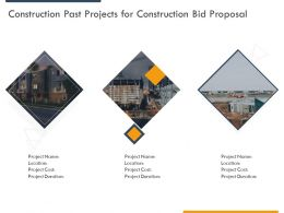 Construction Past Projects For Construction Bid Proposal Ppt Powerpoint Presentation Outline