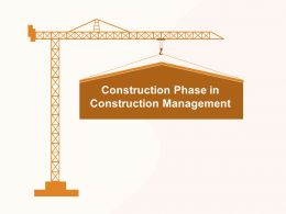 Construction Phase In Construction Management M1181 Ppt Powerpoint Presentation Model Clipart