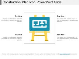 Construction Plan Icon Powerpoint Slide