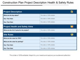 Construction Plan Project Description Health And Safety Rules