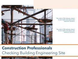 Construction Professionals Checking Building Engineering Site