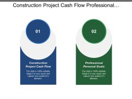 Construction Project Cash Flow Professional Personal Goals Lean Process Cpb