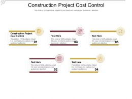 Construction Project Cost Control Ppt Powerpoint Presentation Styles Icon Cpb