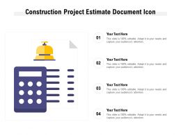 Construction Project Estimate Document Icon