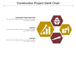 Construction Project Gantt Chart Ppt Powerpoint Summary Templates Cpb