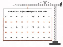 Construction Project Management Icons Slide Ppt Powerpoint Presentation Summary Icon