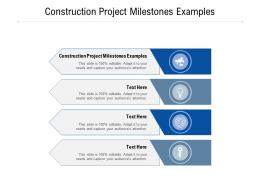 Construction Project Milestones Examples Ppt Powerpoint Presentation Infographics Outfit Cpb