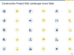 Construction Project Risk Landscape Icons Slide Ppt Formats