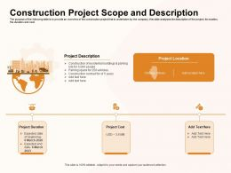 Construction Project Scope And Description Chicago Ppt Powerpoint Presentation Portfolio Infographics