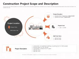 Construction Project Scope And Description Residential Ppt Powerpoint Presentation Visual Aids Styles