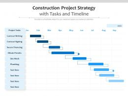 Construction Project Strategy With Tasks And Timeline