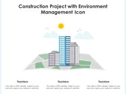 Construction Project With Environment Management Icon