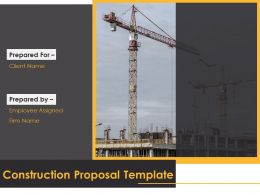 Construction Proposal Template Powerpoint Presentation Slides