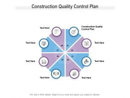 Construction Quality Control Plan Ppt Powerpoint Presentation Outline Outfit Cpb