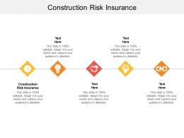 Construction Risk Insurance Ppt Powerpoint Presentation Gallery Designs Cpb