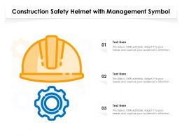 Construction Safety Helmet With Management Symbol