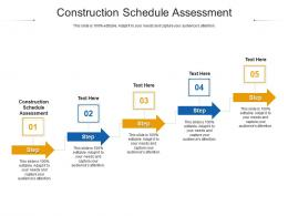Construction Schedule Assessment Ppt Powerpoint Presentation Gallery Microsoft Cpb