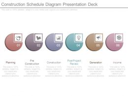 Construction Schedule Diagram Presentation Deck