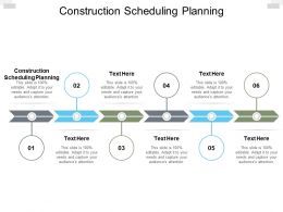 Construction Scheduling Planning Ppt Powerpoint Presentation Slides Deck Cpb