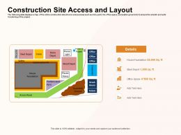 Construction Site Access And Layout Depot Ppt Powerpoint Presentation Inspiration Samples