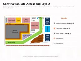 Construction Site Access And Layout Steel Depot Ppt Powerpoint Presentation Inspiration Templates