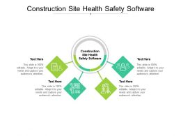 Construction Site Health Safety Software Ppt Presentation Gallery Pictures Cpb