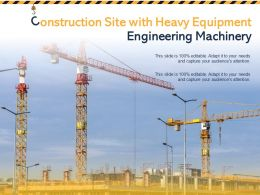 Construction Site With Heavy Equipment Engineering Machinery