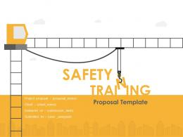 Construction Staff Safety Training Proposal Powerpoint Presentation Slides