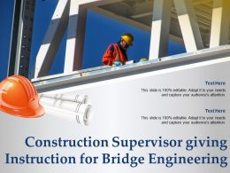 Construction Supervisor Giving Instruction For Bridge Engineering