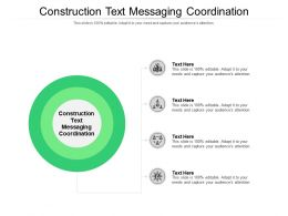Construction Text Messaging Coordination Ppt Powerpoint Layouts Portrait Cpb