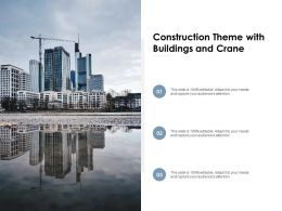 Construction Theme With Buildings And Crane