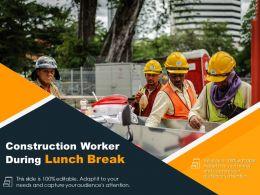 Construction Worker During Lunch Break