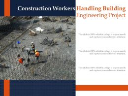 Construction Workers Handling Building Engineering Project
