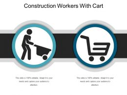 Construction Workers With Cart