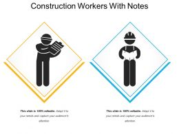 Construction Workers With Notes
