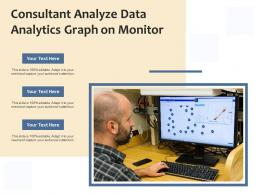 Consultant Analyze Data Analytics Graph On Monitor