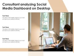 Consultant Analyzing Social Media Dashboard On Desktop