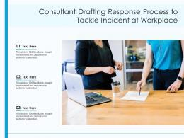 Consultant Drafting Response Process To Tackle Incident At Workplace