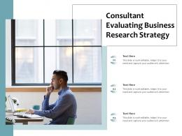 Consultant Evaluating Business Research Strategy