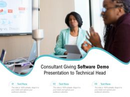 Consultant Giving Software Demo Presentation To Technical Head
