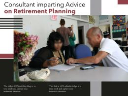 Consultant Imparting Advice On Retirement Planning